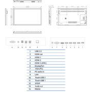 Интерактивная панель Legamaster ETX-6510UHD (схема)