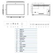 Интерактивная панель Legamaster ETX-8610UHD (схема)