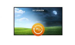 Монитор поддерживает режим работы 24 часа в сутки 7 дней в неделю.