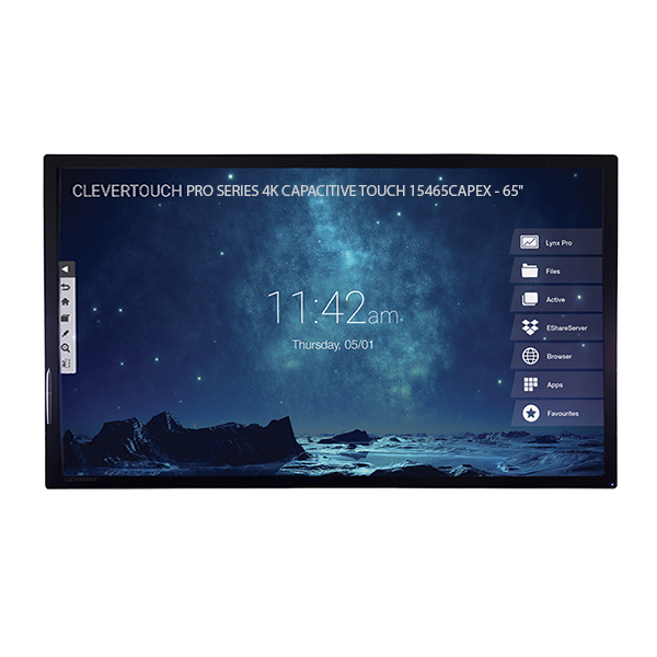 """Интерактивная панель Clevertouch PRO SERIES 4K CAPACITIVE TOUCH 15465CAPEX - 65"""""""
