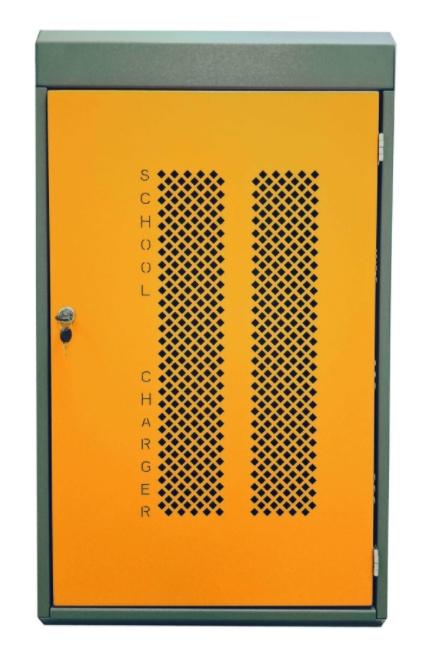Навесной шкаф с USB выходами для зарядки 32 планшетов