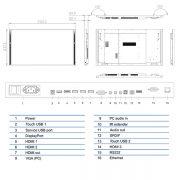 Интерактивная панель Legamaster e-Screen XTX-8600UHD - 86